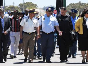 We launched Drug Watch in the Western Cape in November 2010. I am picture here with Western Cape police and traffic authorities when we started it. 