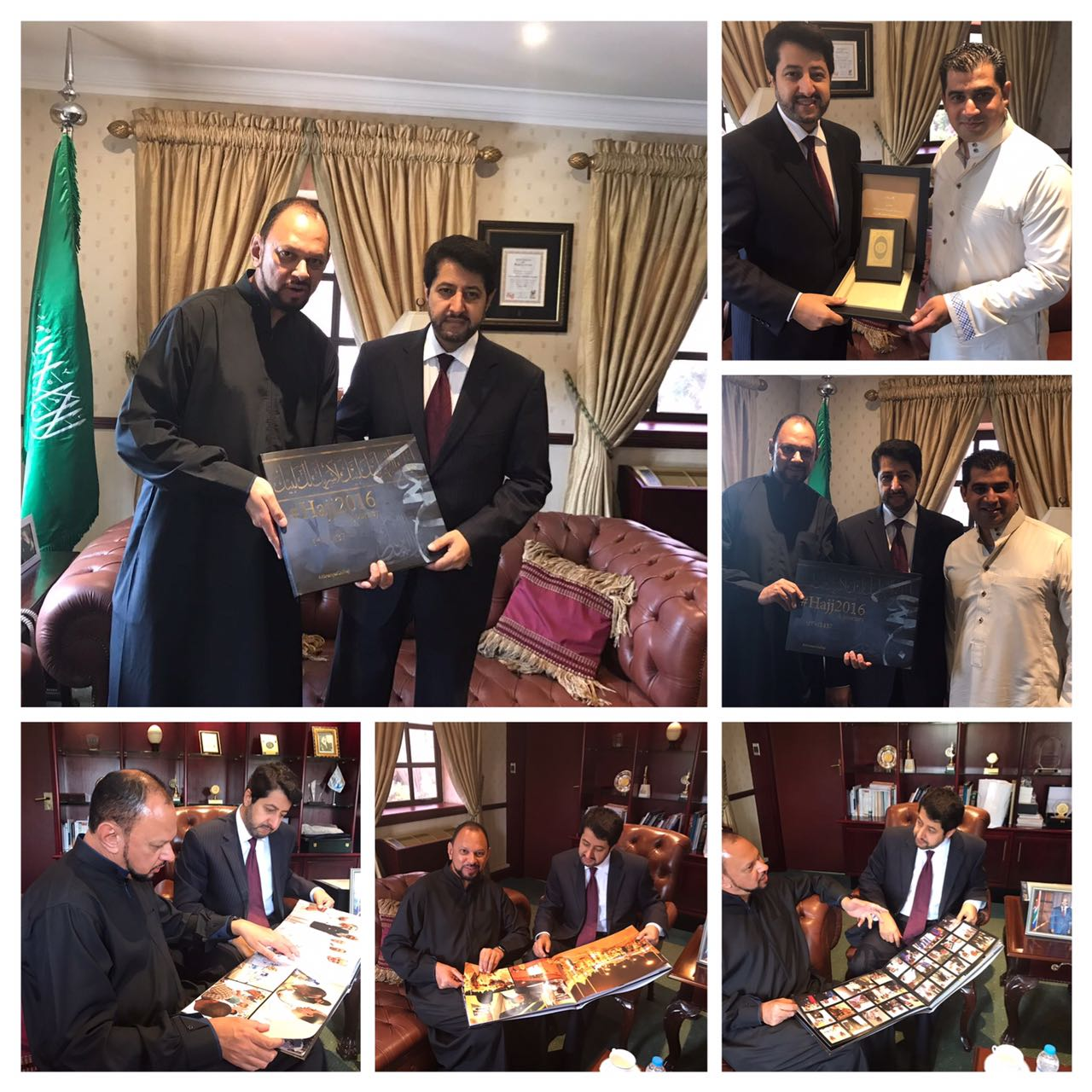 Saudi Ambassador To Sa Presented With Hajj2017 Abramjeeonhajj Coffee Table Book